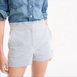 J Crew Seersucker Shorts